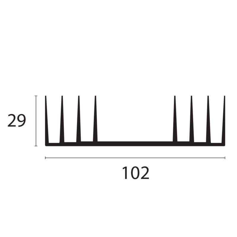 perfil disipador de calor DIS001