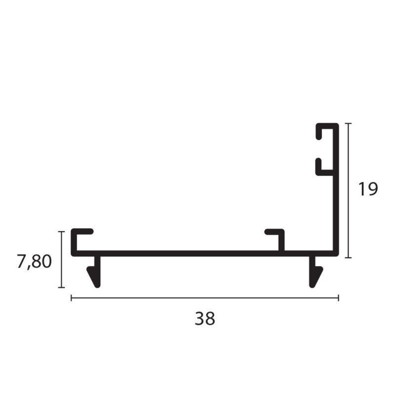 adaptador 3831 proyectante