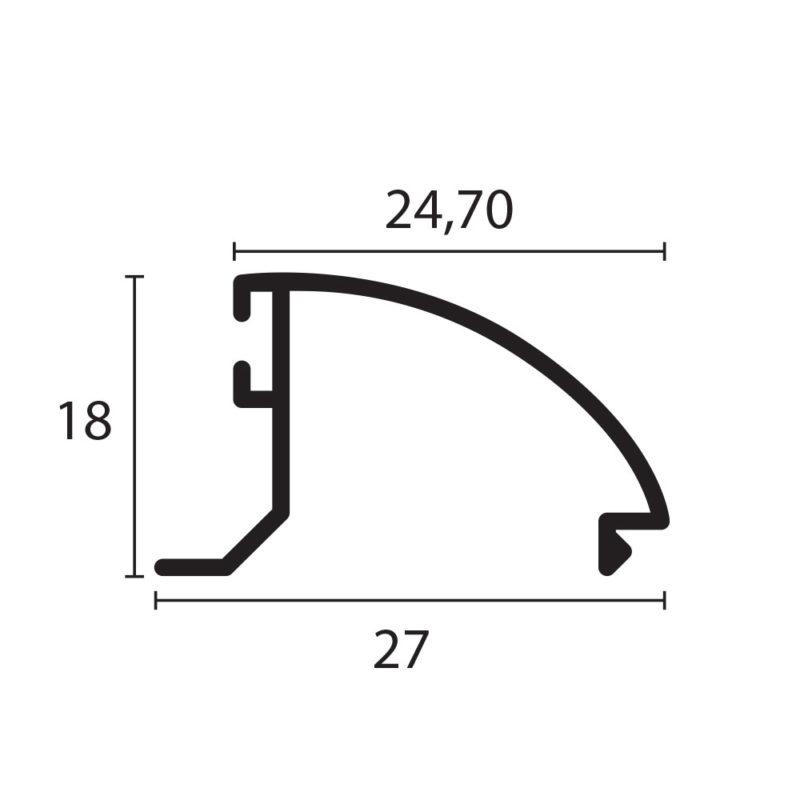 pisavidrio curvo 3831 proyectante