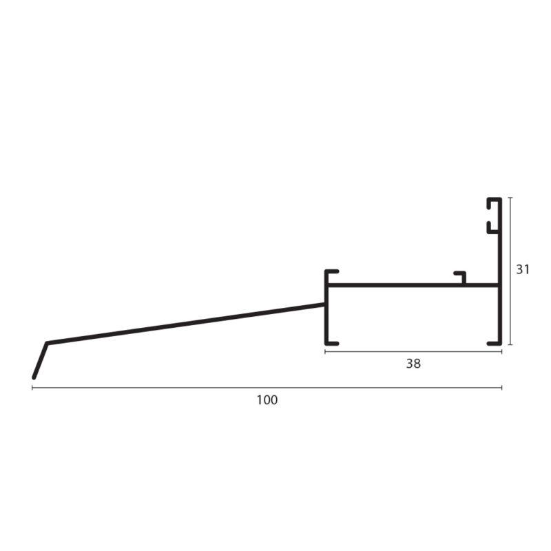 sillar con alfajía 3831 proyectante