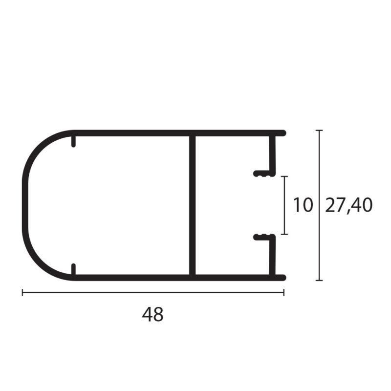 hoja lateral redonda 8025
