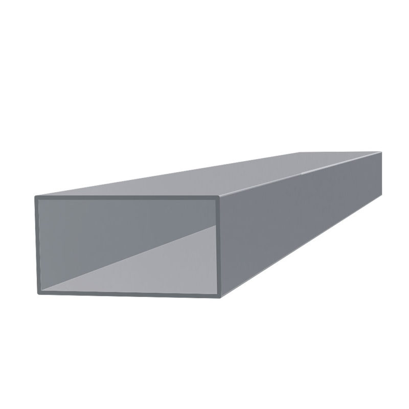tubo rectangular de aluminio
