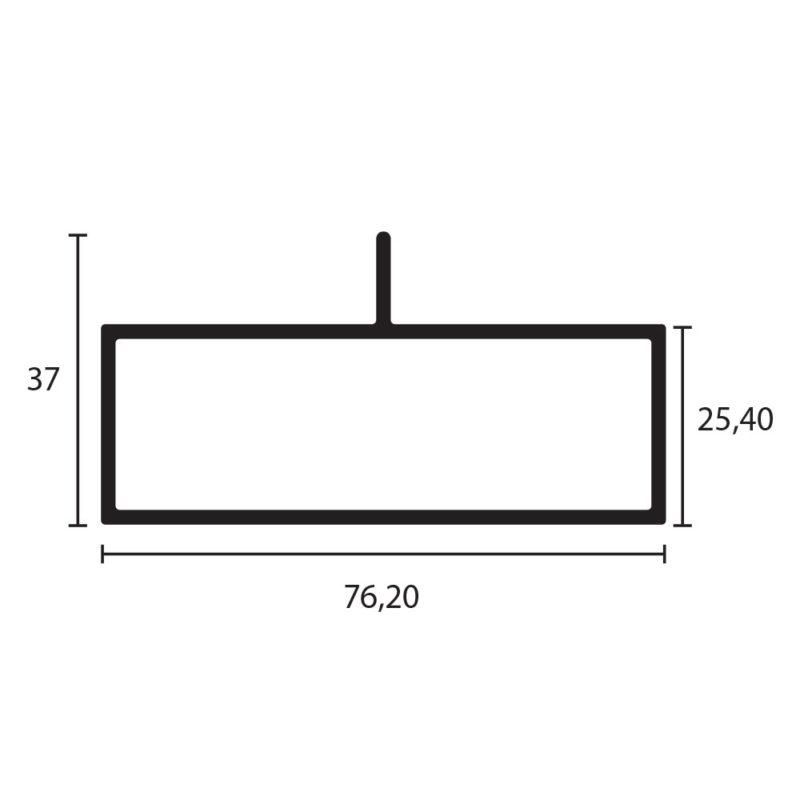 tubular 3x1 con aleta