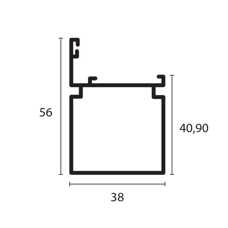 tubular con adaptador de 1 1/2 x 1 1/2