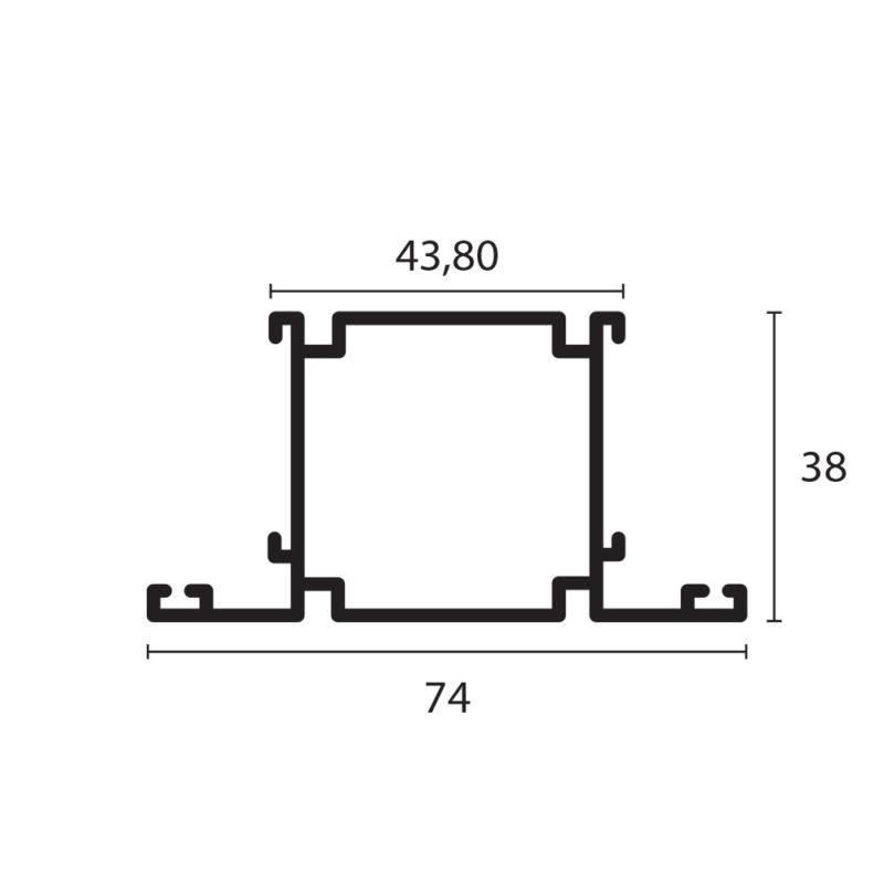 tubular con doble adaptador de 1 1/2 x 1 1/2